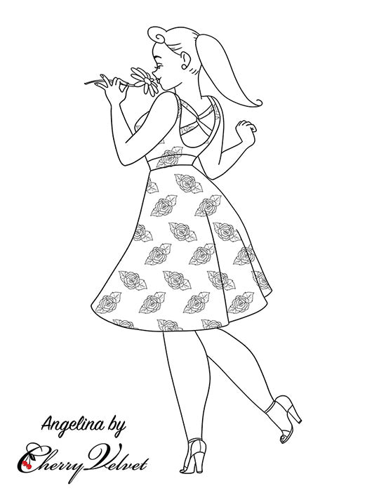 Colouring Pages - Angelina