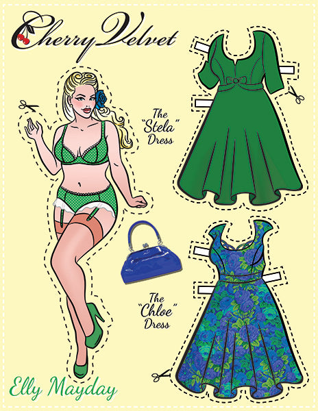 Elly Mayday - Pin Up Paper Doll