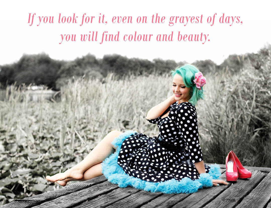 Elly Mayday, Teal Hair Quote