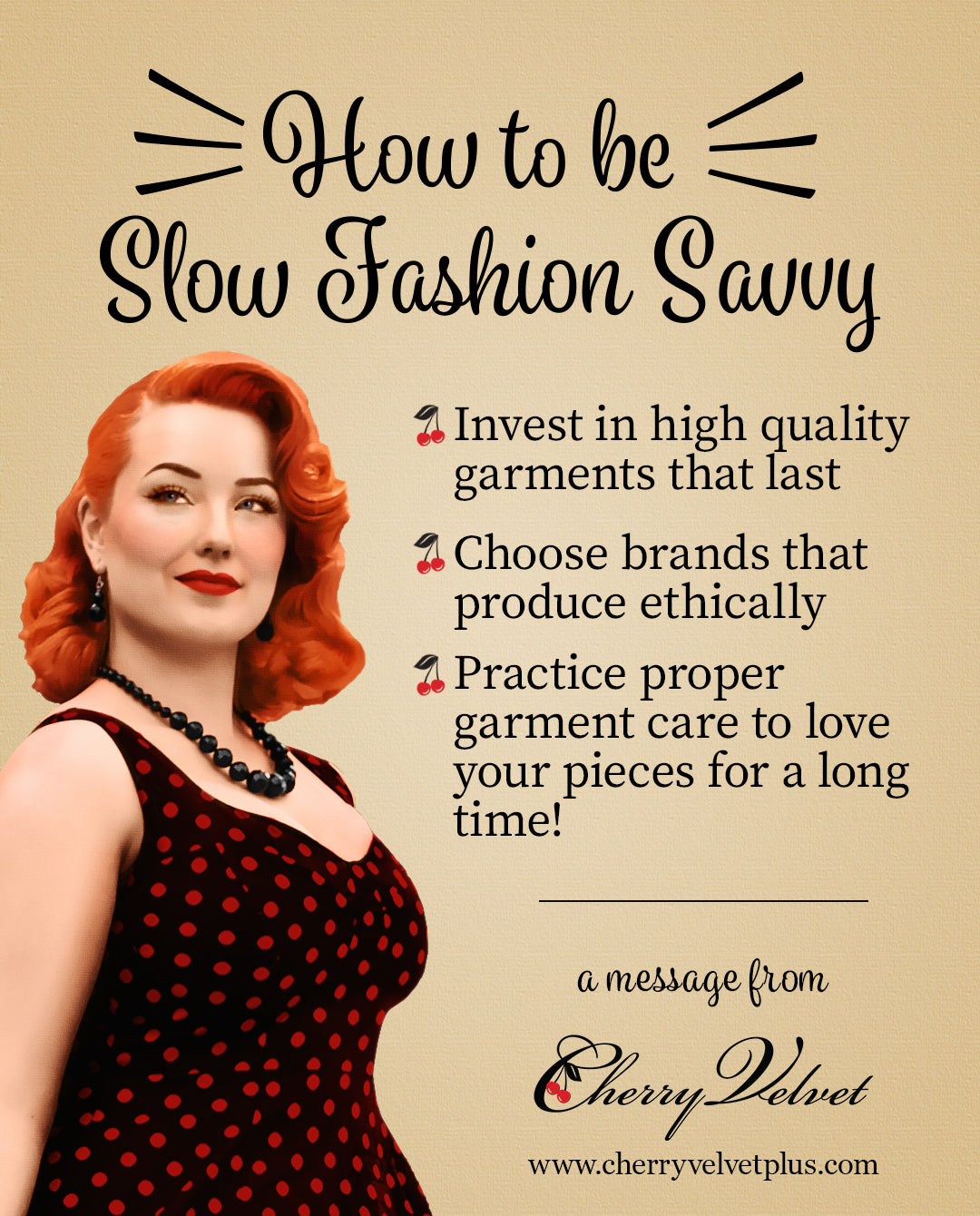 How to be Slow Fashion Savvy poster