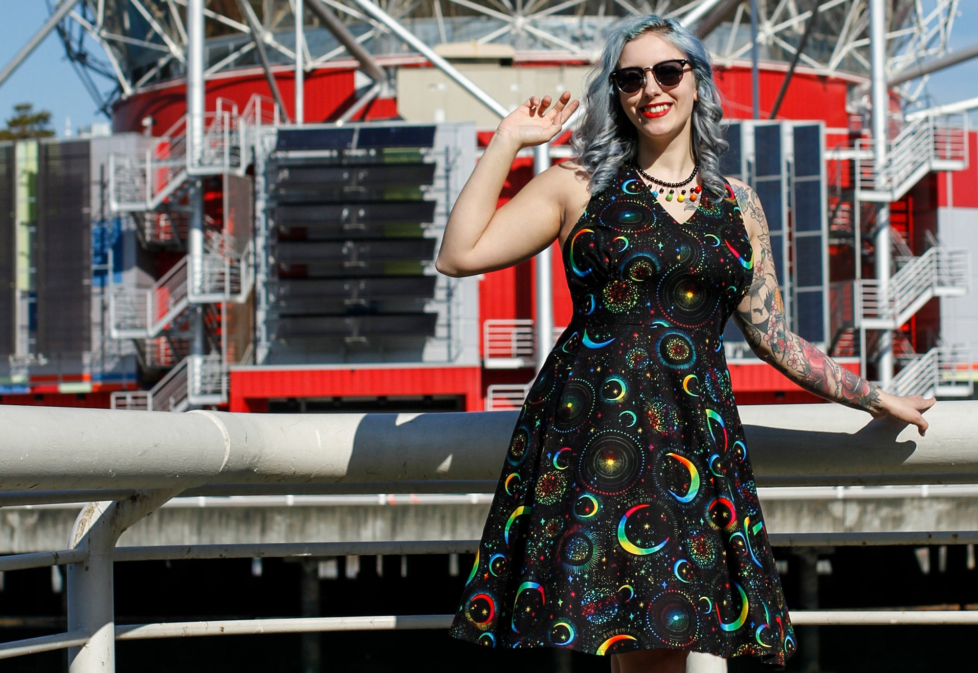 Norma Aura Luna dress by Cherry Velvet Rainbow Moons Pride