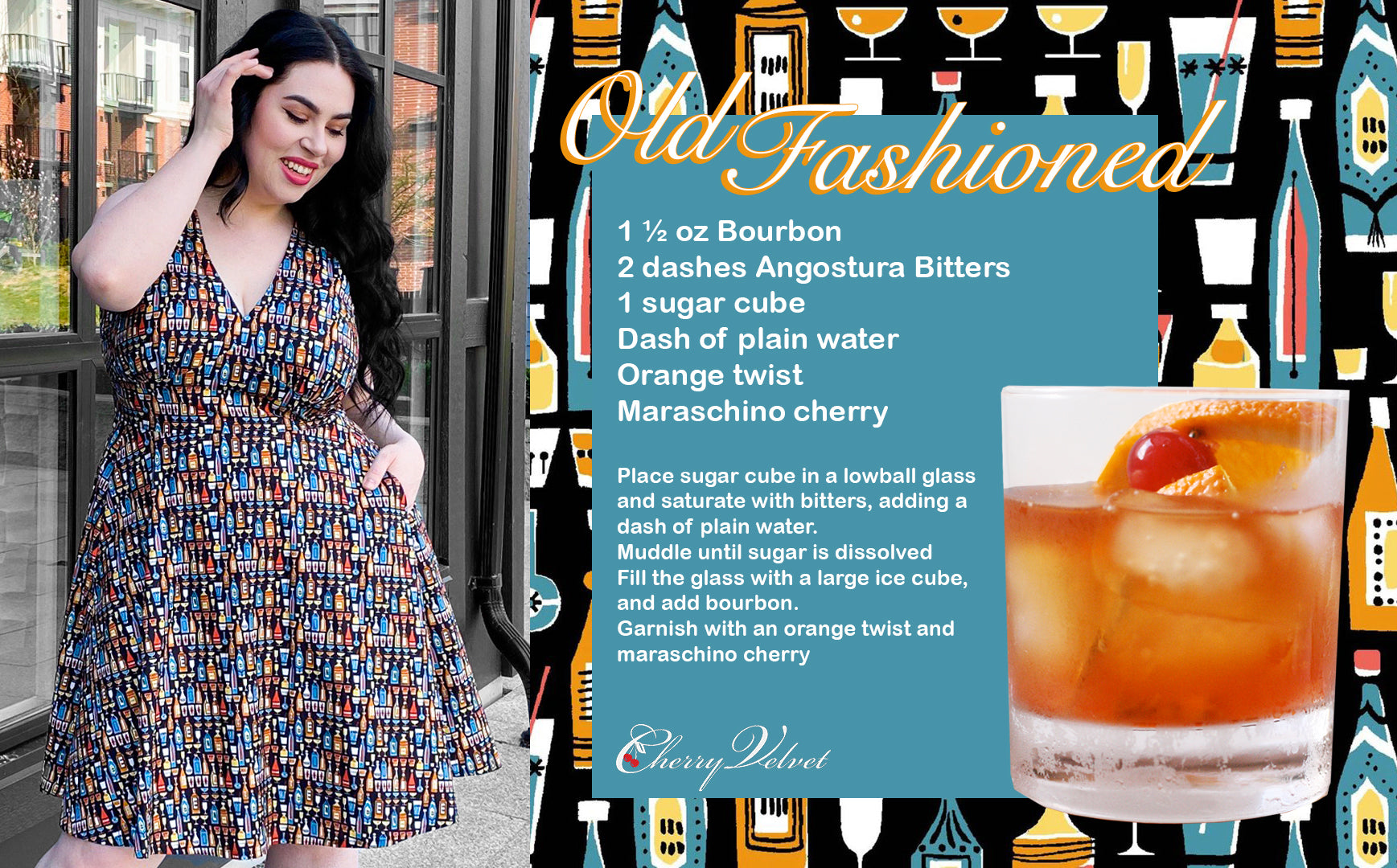Old Fashioned Recipe High Spirits Norma dress