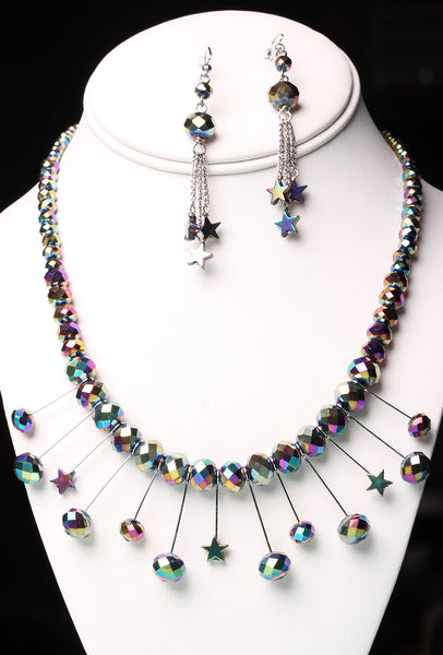 Atomic Lights - Necklace & Earring Set