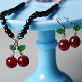 Black Cherry - Necklace and Earrings Set