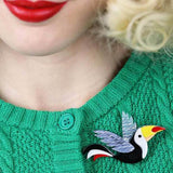 CONRAD COOL BEAK - Erstwilder Toucan Brooch