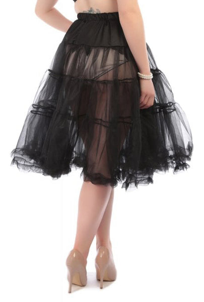 Chiffon Crinoline - Black Licorice