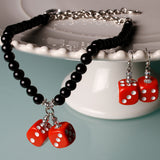 Ruby Pair-o-Dice - Necklace & Earring Set