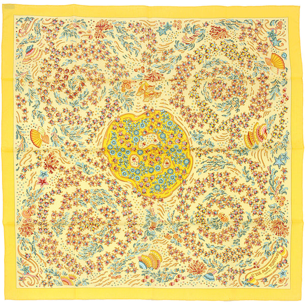 "Hermes Scarf ""L'Ile Aux Tortues"" 70cm Cotton 