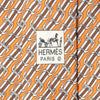 Hermes Men's Silk Tie Equestrian Geometric Pattern 5436 | Necktie Cravate