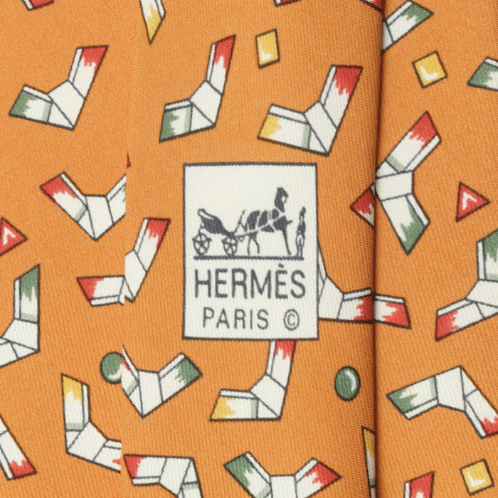 Hermes Men's Silk Tie Origami Pattern 5004 | Necktie Cravate