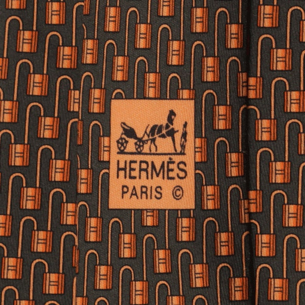 Hermes Men's Silk Tie Geometric Pattern 5434 | Necktie Cravate