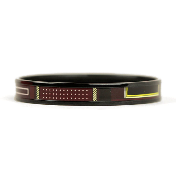 Hermes Bracelet 65 Enamel PVD Plated Narrow | Bangle