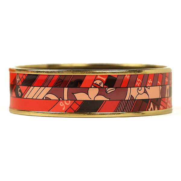 Hermes Bracelet 65 Wide Gold Enamel Astrologie Nouvelle | Bangle GHW