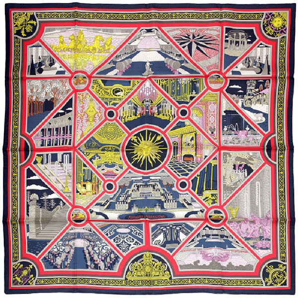 "Hermes Scarf ""Flanerie a Versailles"" by Pierre Marie 90cm Silk"