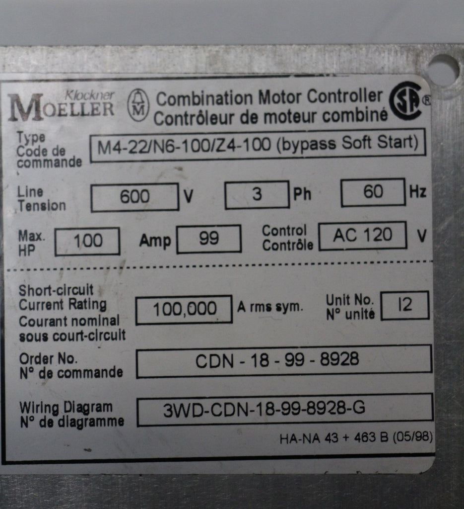 Benshaw Solid State Motor Control Mstm6 100 6 C Used Inverter Combination Controller Wiring Diagram