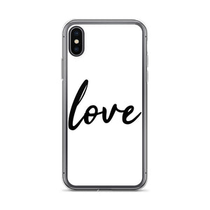 Love White iPhone Case