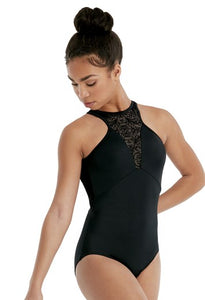 FLOCKED MESH LEOTARD