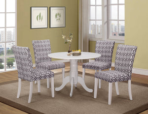 Country Casual White Five-Piece Dining Set