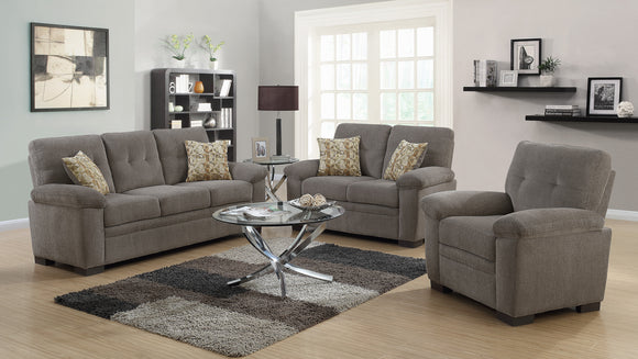 Fairbairn Casual Oatmeal Living Room Sofa or Loveseat