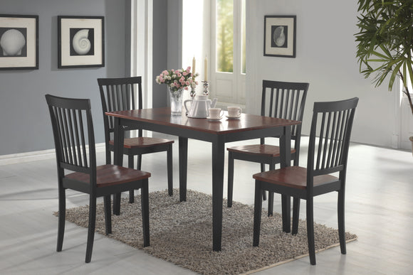 Casual Tobacco Five-Piece Dinette Set