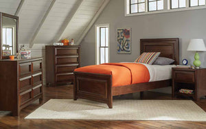 Transitional Maple Oak Twin Bed