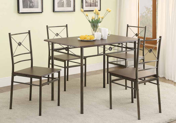 Dark Bronze 5 Piece Dining Set
