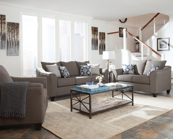 Transitional Grey Living Room Set