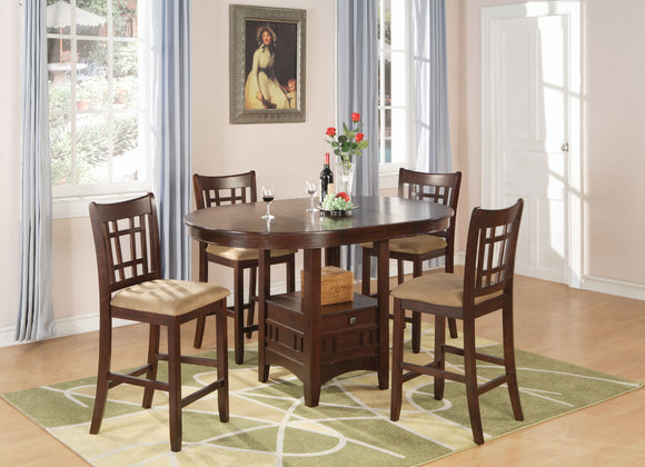 Transitional Counter-Height Storage Table 5 Piece Dining Set