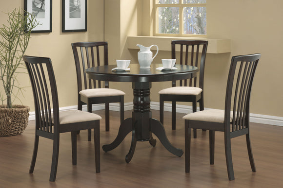 5 Piece Casual Cappuccino Dining Set