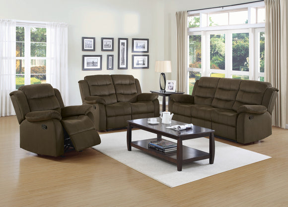 Chocolate Reclining Living Room Set