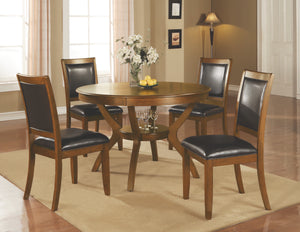 Casual Deep Brown Dining Set 5 Piece