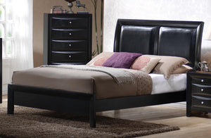 Black Transitional King Bed