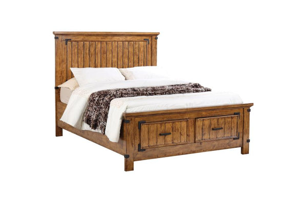 Rustic Honey Queen or Full Storage Bed