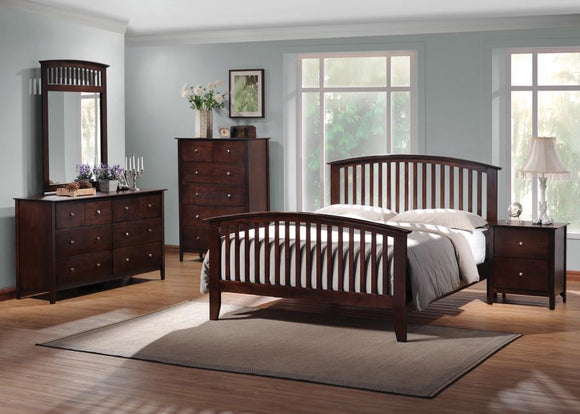 Tia Cappuccino Queen Bedroom Set