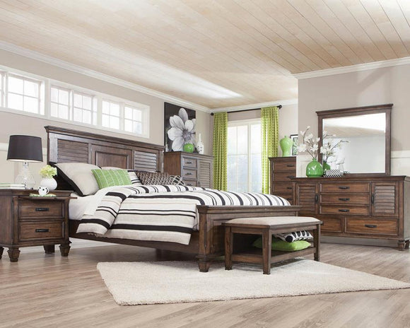 Burnished Oak Queen Bed