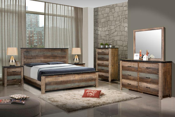 Rustic Antique Style Queen Bed
