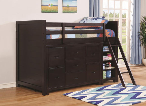 Cappuccino Twin Loft Bed