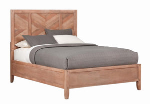 Scott Living Auburn Rustic Mahogany King Bed