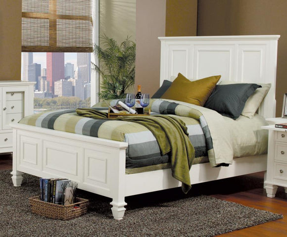 Sandy Beach White King Bed