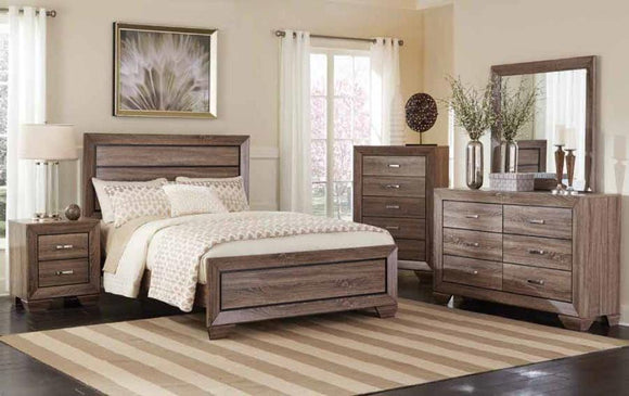 White Oak Style Queen Bed