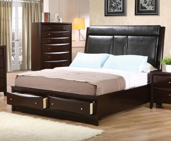 Phoenix Queen Storage Bed With Drop Down Console