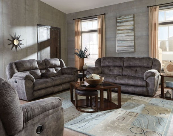 Carrington Greystone Reclining Living Room Set by Catnapper