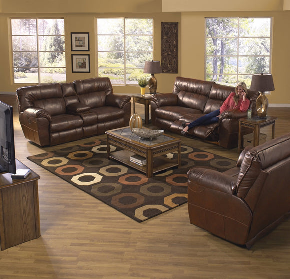 Nolan Chestnut Reclining Living Room Set by Catnapper