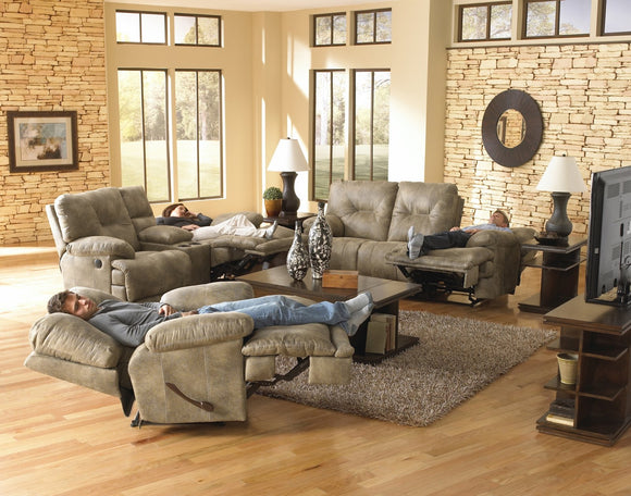 Voyager Brandy Reclining Living Room Set by Catnapper