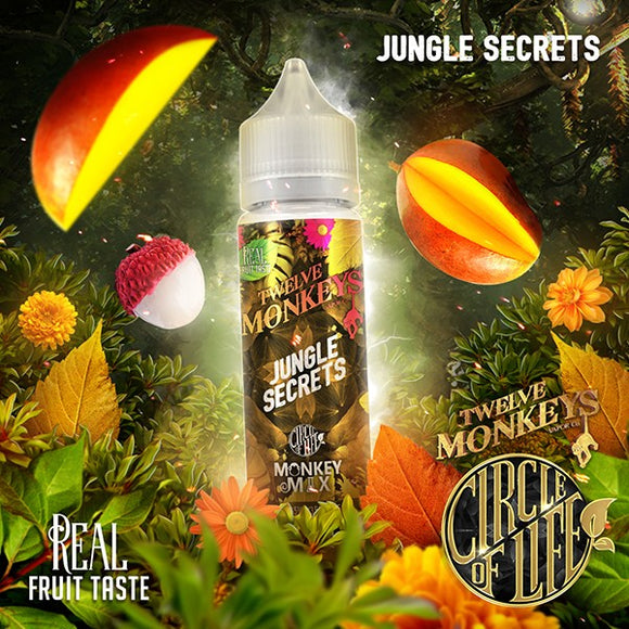 Twelve Monkeys - Jungle Secrets 50 ml - 00mg - Shortfill