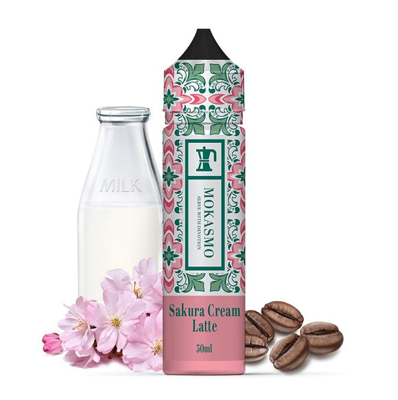 Aisu Mokasmo - Sakura Cream Latte 50ml - 00mg - Shortfill