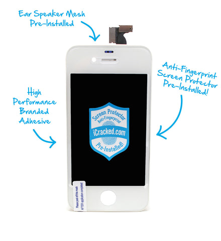 iPhone 4S Display Assembly (LCD+Digitizer) (White)