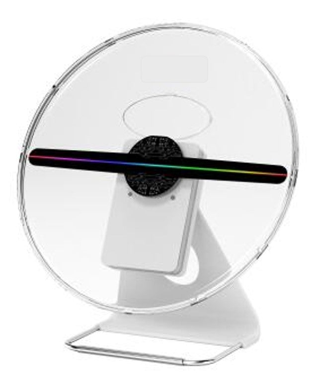 Z6 30cm SD card Battery powered 3D Holographic Fan