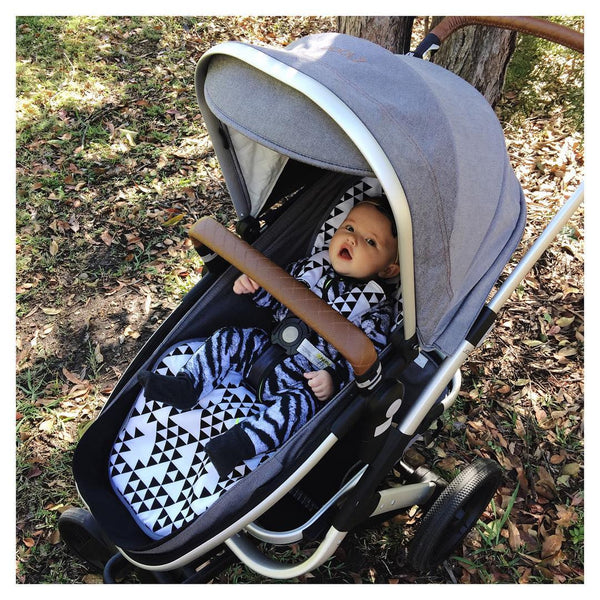 Pram Liner - Black Triangles - Audrey & Me  - 2