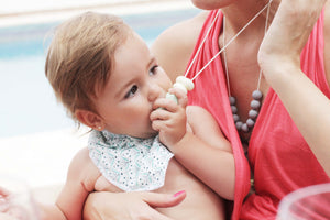 Teething Necklace - Santorini Soft Coral - Audrey & Me  - 2